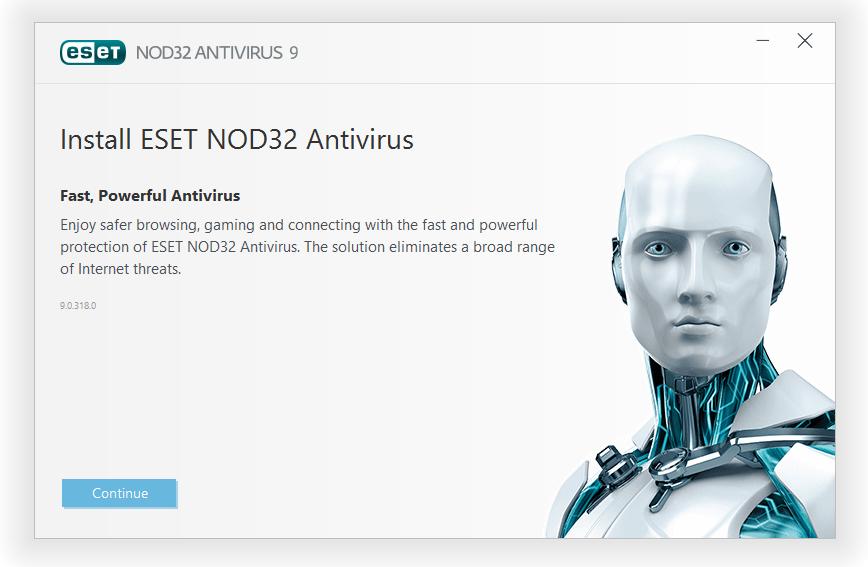 مرحله اول نصب و راه اندازی آنتی ویروس ناد32 ESET