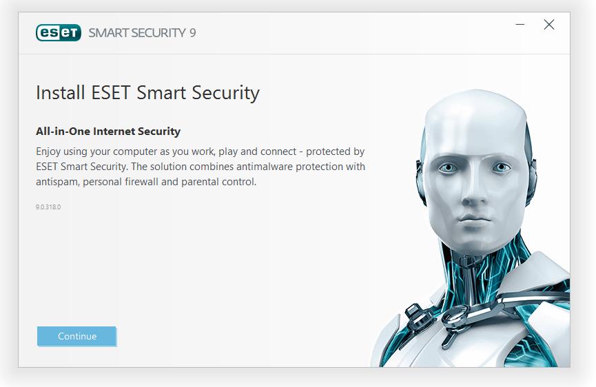 مرحله اول نصب و راه اندازی آنتی ویروس ESET Smart Security