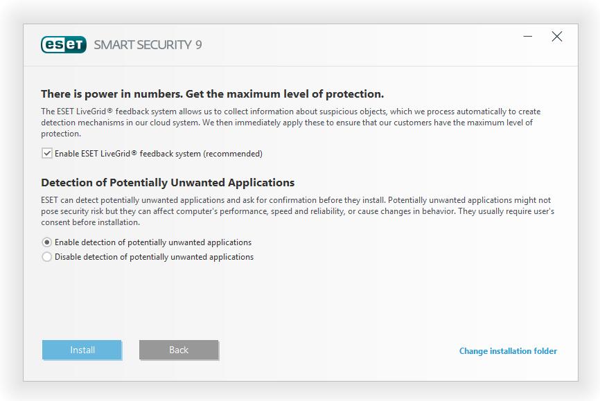 مرحله سوم نصب و راه اندازی آنتی ویروس ESET Smart Security