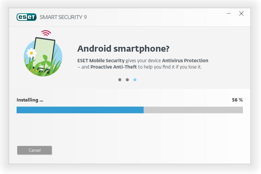 مرحله چهارم نصب و راه اندازی آنتی ویروس ESET Smart Security