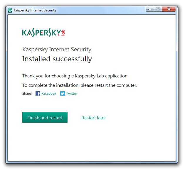 مرحله سوم نصب و راه اندازی آنتی ویروس Kaspersky Internet Security