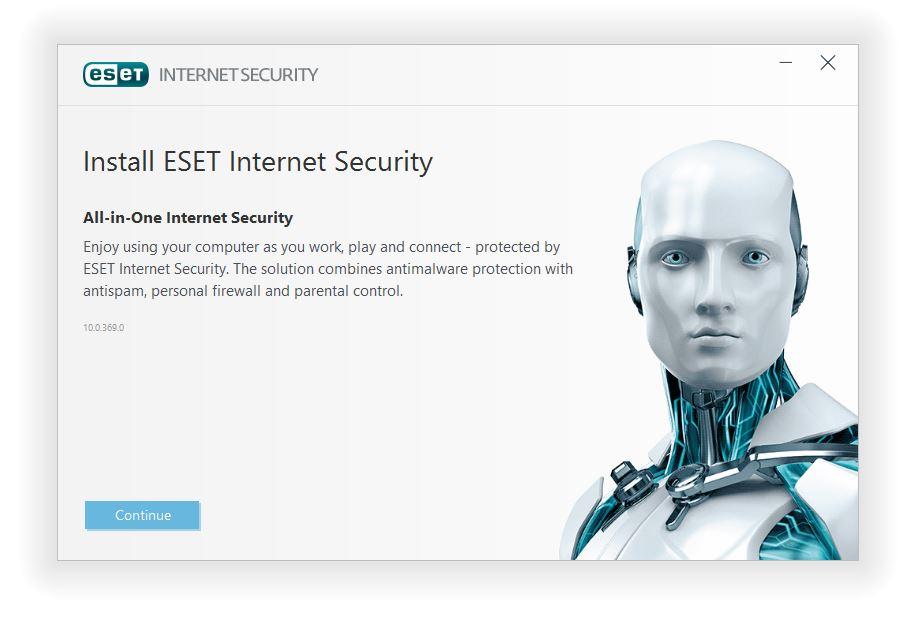 مرحله اول نصب و راه اندازی آنتی ویروس ESET Internet Security