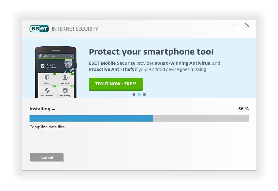 مرحله چهارم نصب و راه اندازی آنتی ویروس ESET Internet Security