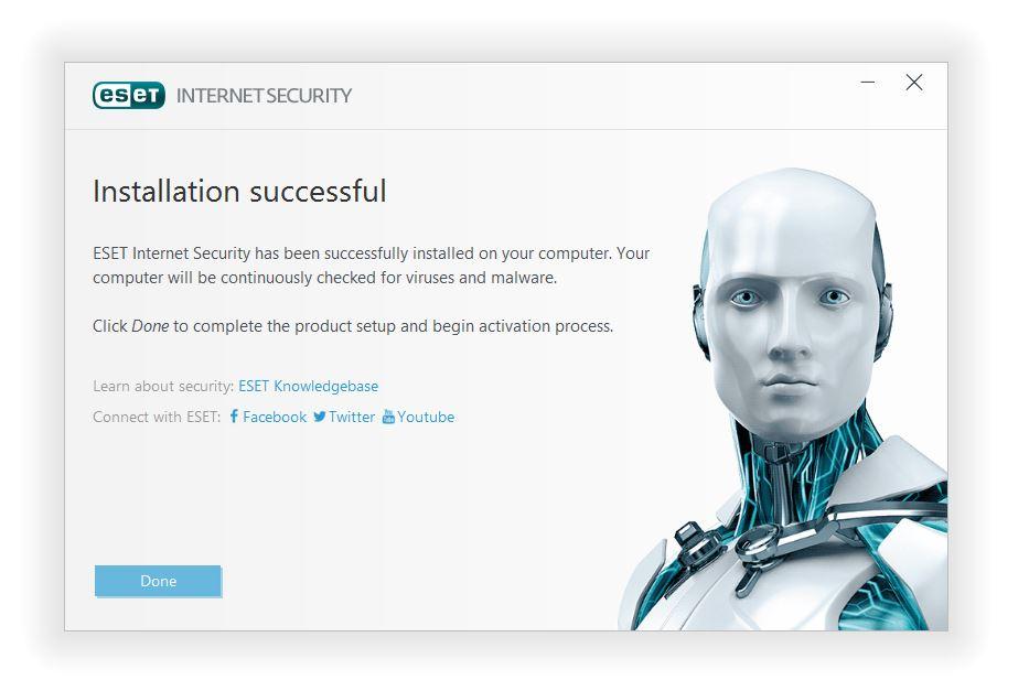 مرحله پنجم نصب و راه اندازی آنتی ویروس ESET Internet Security