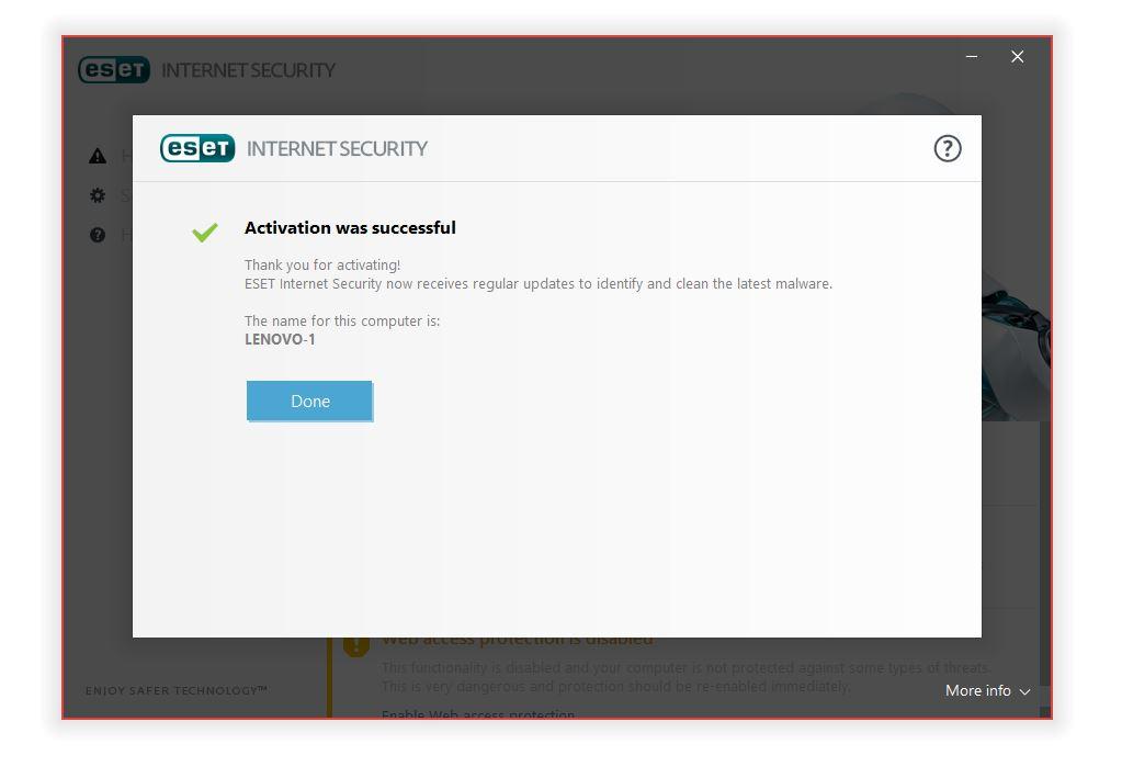 مرحله هفتم نصب و راه اندازی آنتی ویروس ESET Internet Security