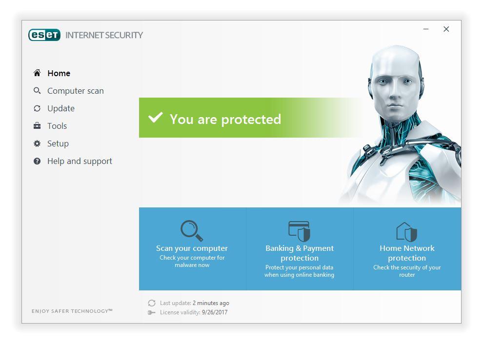 مرحله هشتم نصب و راه اندازی آنتی ویروس ESET Internet Security