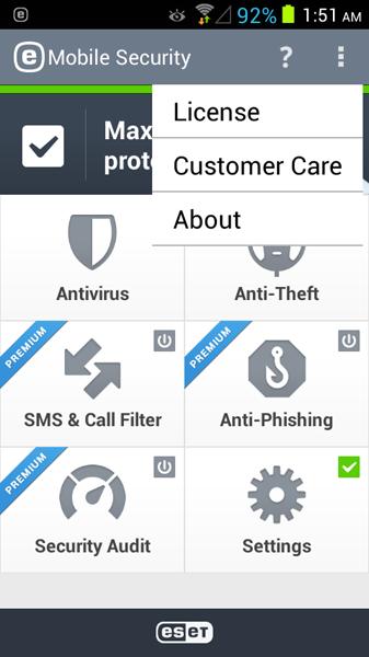 مرحله پنجم نصب و راه اندازی آنتی ویروس ESET Mobile Security