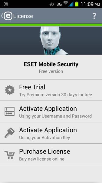 مرحله ششم نصب و راه اندازی آنتی ویروس ESET Mobile Security