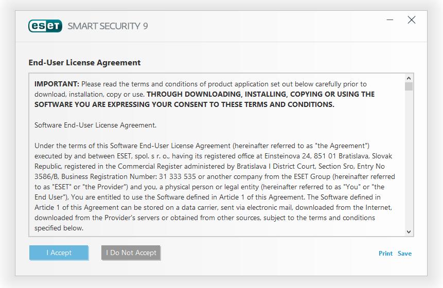 مرحله دوم نصب و راه اندازی آنتی ویروس ESET Smart Security