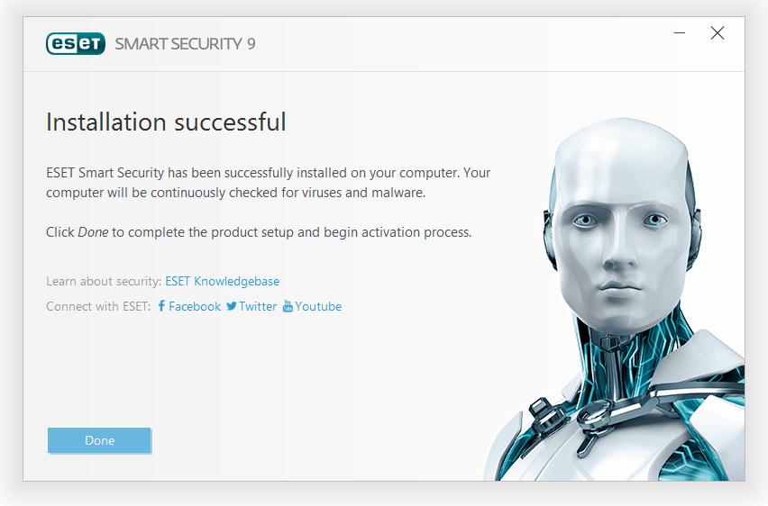 مرحله پنجم نصب و راه اندازی آنتی ویروس ESET Smart Security