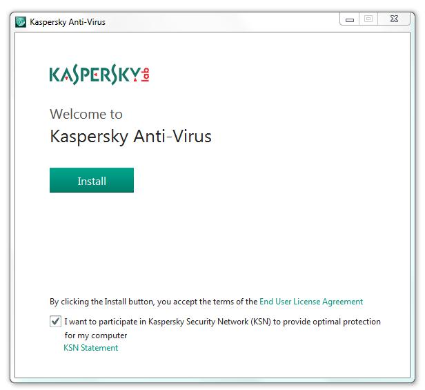 مرحله اول نصب و راه اندازی آنتی ویروس Kaspersky Antivirus