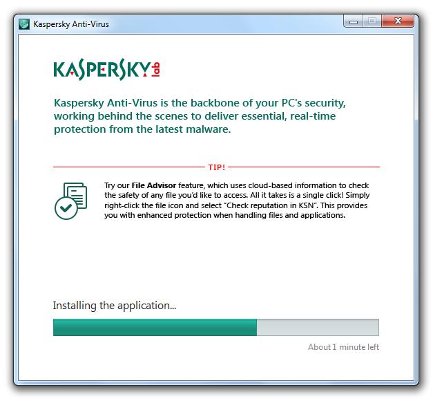 مرحله دوم نصب و راه اندازی آنتی ویروس Kaspersky Antivirus