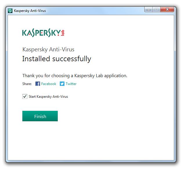 مرحله سوم نصب و راه اندازی آنتی ویروس Kaspersky Antivirus