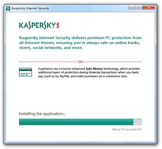 مرحله دوم نصب و راه اندازی آنتی ویروس Kaspersky Internet Security