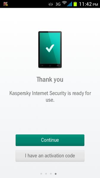 مرحله سوم نصب و راه اندازی آنتی ویروس Kaspersky Internet Security for Android
