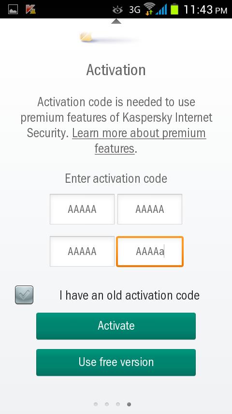 مرحله چهارم نصب و راه اندازی آنتی ویروس Kaspersky Internet Security for Android