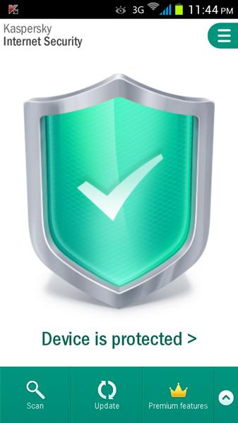 مرحله آخر نصب و راه اندازی آنتی ویروس Kaspersky Internet Security for Android