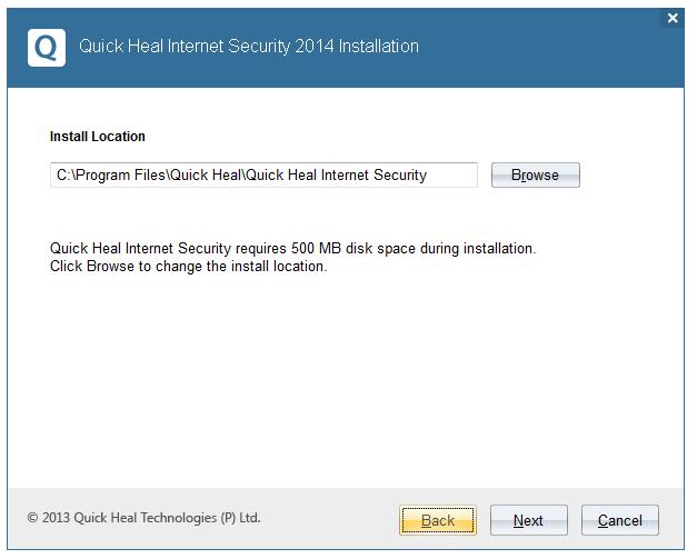 مرحله دوم نصب و راه اندازی آنتی ویروس Quick Heal Internet Security
