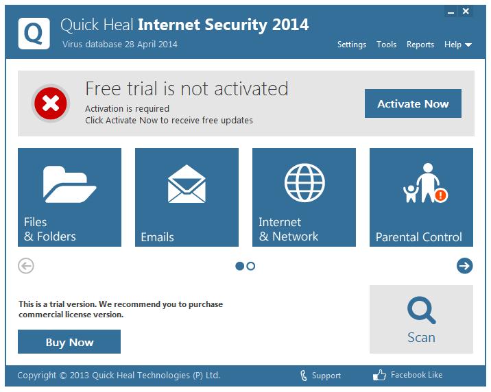 مرحله آخر نصب و راه اندازی آنتی ویروس Quick Heal Internet Security