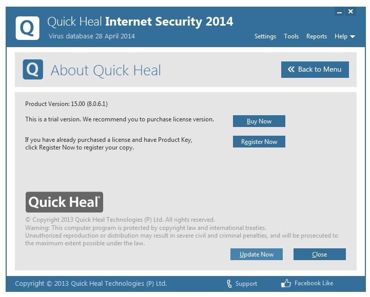 مرحله ششم نصب و راه اندازی آنتی ویروس Quick Heal Internet Security