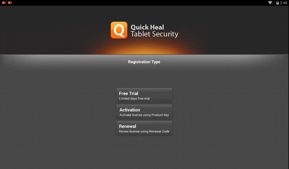 مرحله چهارم نصب و راه اندازی آنتی ویروس Quick Heal Tablet Security