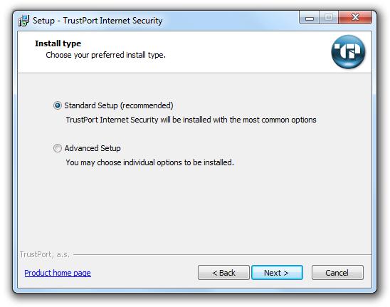 مرحله چهارم نصب و راه اندازی آنتی ویروس Trustport Internet Security