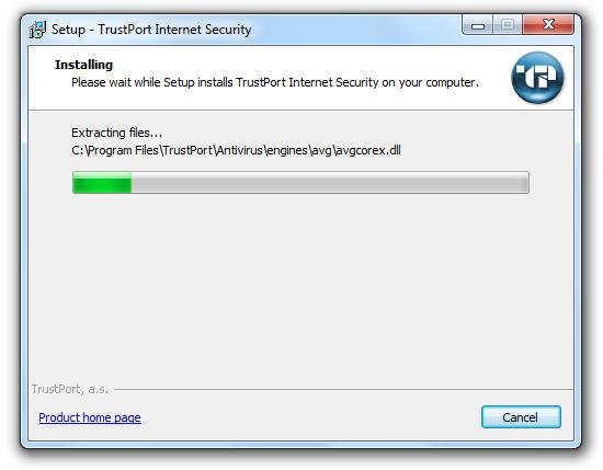 مرحله پنجم نصب و راه اندازی آنتی ویروس Trustport Internet Security