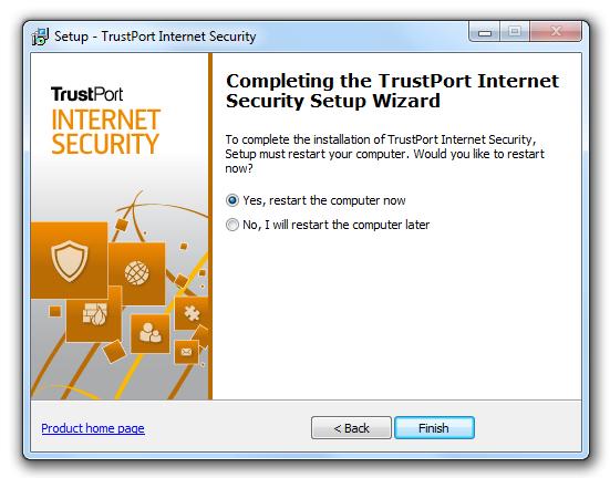 مرحله هفتم نصب و راه اندازی آنتی ویروس Trustport Internet Security