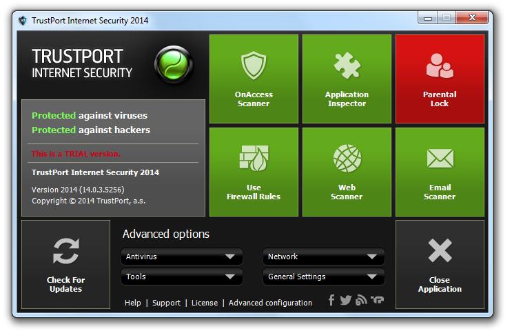 مرحله آخر نصب و راه اندازی آنتی ویروس Trustport Internet Security